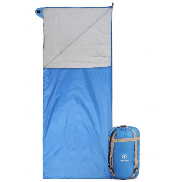 REDCAMP Light Weight Sleeping Bag For Warm Weather Blue With 1.5LBS