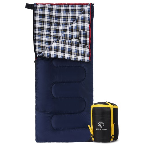REDCAMP Cotton Flannel Sleeping bags for Camping With 4LBS Filling