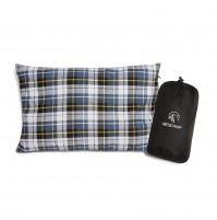REDCAMP Flannel Travel Pillow, Cotton Pillow For Camping/Backpacking/Hiking
