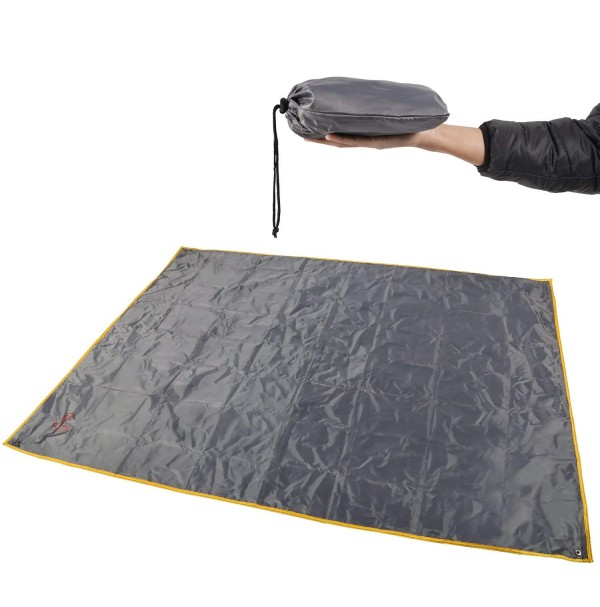 "REDCAMP Waterproof Camping Tarp, Multifunctional Tent Footprint for Camping, Hiking and Survival Gear, Lightweight and Foldable - 83""x83"""