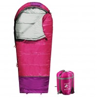REDCAMP Kids Mummy Sleeping Bag for Camping Zipped Small, 30 Degree All Season Cold Weather Fit Boys, Girls & Teens Blue/Rose Red