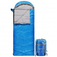 REDCAMP Kids Sleeping Bag for Camping with Detachable Hood, 40 Degree 3 Season Warm or Cold Weather Fit Boys, Girls & Teens Blue
