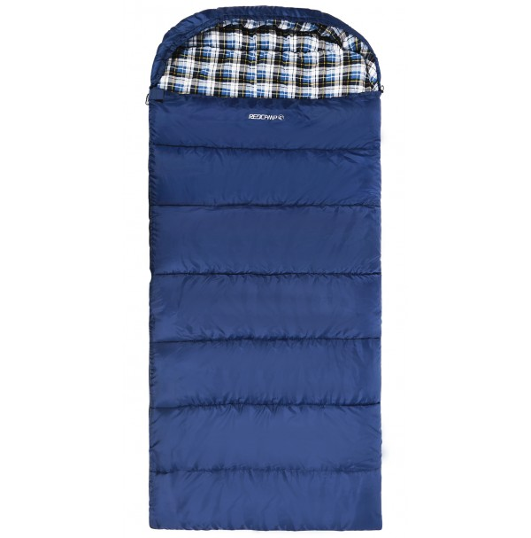 REDCAMP Cotton Flannel Sleeping bags With Hood Blue/2LBS Filling