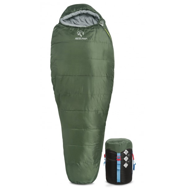 REDCAMP Mummy Sleeping Bag for Backpacking - Green