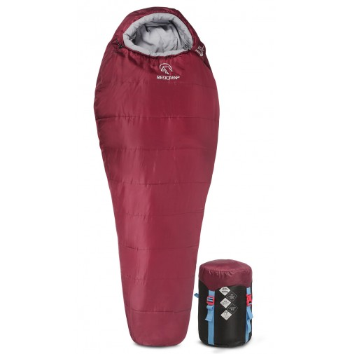 REDCAMP Mummy Sleeping Bag for Backpacking - Red