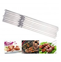 """REDCAMP Flat Barbeque BBQ Skewers Stainless Steel, Set of 20, 14.5"""" Long Metal Reusable Kabob Skewers for Grill"""