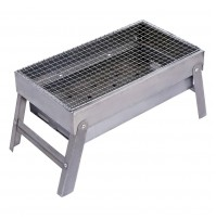 REDCAMP Charcoal Outdoor Barbecue Grill with Grate, Small/Medium Folding Portable Steel BBQ Grill for Camping