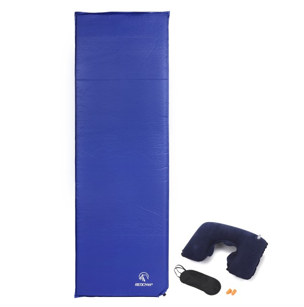 "REDCAMP Self Inflating Sleeping Pad For Camping With 1.2"" Thickness Blue"