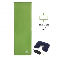 "REDCAMP Self Inflating Sleeping Pad For Camping With 2"" Thickness Green"