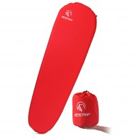 "REDCAMP Self Inflating Sleeping Pad for Backpacking - Red With 1.5"" Height"