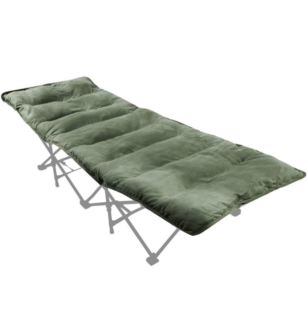 "REDCAMP Cot Mattress, Cotton Sleeping Pad Mat for Camping, 77""x29"""