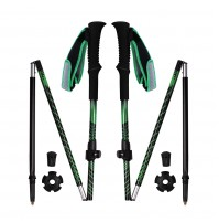 REDCAMP Collapsible Aluminium Walking Sticks With Quick Flip Lock - Green