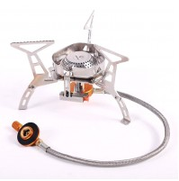REDCAMP Windproof Portable Backpacking Stove with Piezo Ignition, 3500W Strong Firepower Lightweight Outdoor Camping Stove Propane Butane