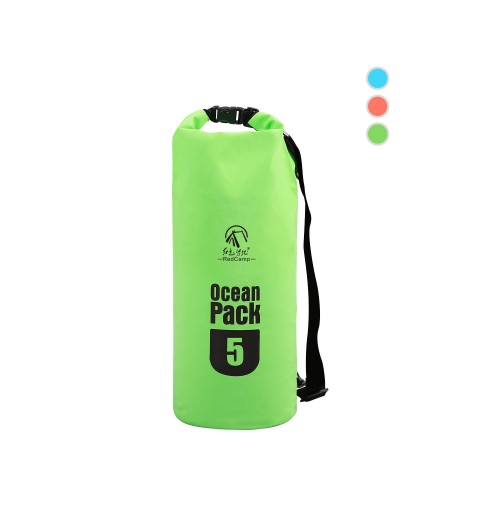 REDCAMP Floating Waterproof Dry Bag Roll Top with Strap, Heavy Duty Dry Sack Waterproof for Kayaking Boating Snorkeling Camping, Medium 10L Green