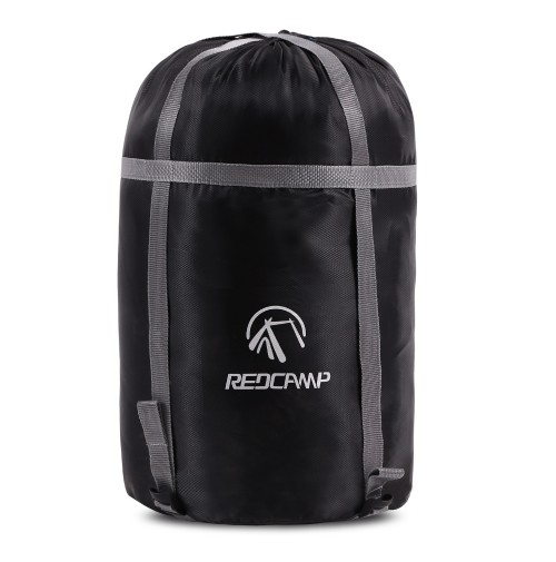 REDCAMP Sleeping Bag Stuff Sack, Black M, L and XL Compression Sack, Great for Backpacking and Camping