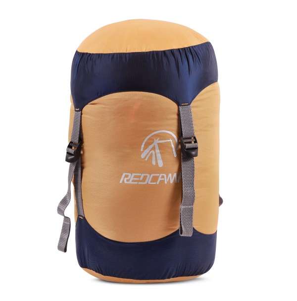 REDCAMP Nylon Compression Stuff Sack, Lightweight Sleeping Bag Compression Sack Great for Backpacking, Hiking and Camping Orange and Blue M …