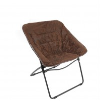 REDCAMP Oversized Saucer Chair for Teens Kids Adults, Folding Dish Chair, Brown 34x29x17.3 inches