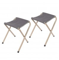 REDCAMP Small Folding Camp Stool, Portable and Lightweight, a Quick Rest, Set of 2, 9.8×10.6×13.4''
