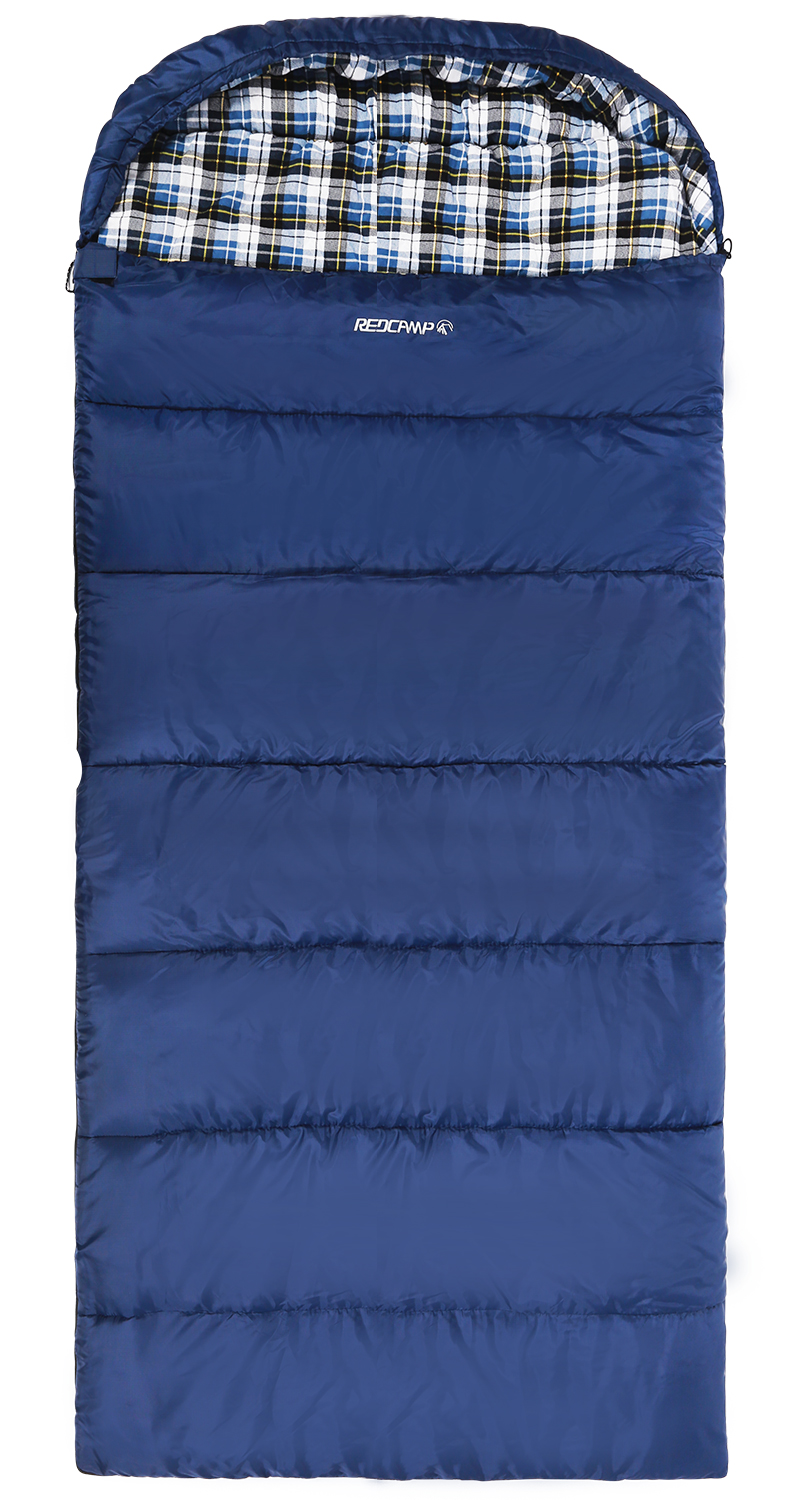 REDCAMP Cotton Flannel Sleeping Bags With Hood Blue 4LBS Filling Quick View